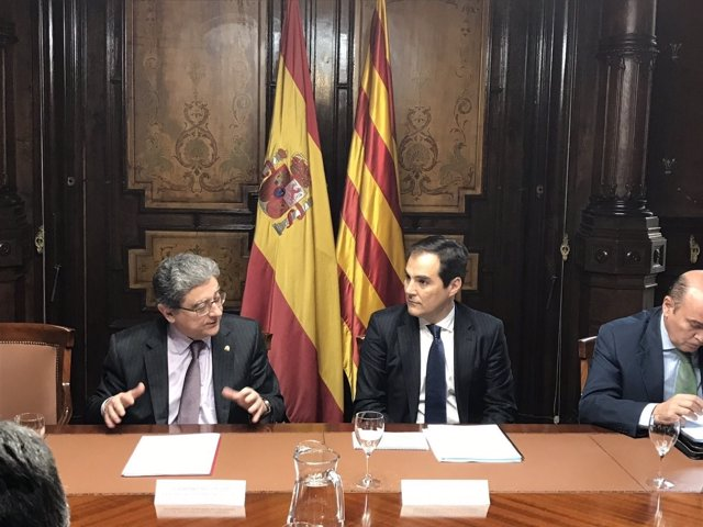 José Antonio Nieto en su primera visita oficial a Cataluña