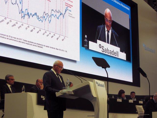 El director del Banco Sabadell, Josep Oliu