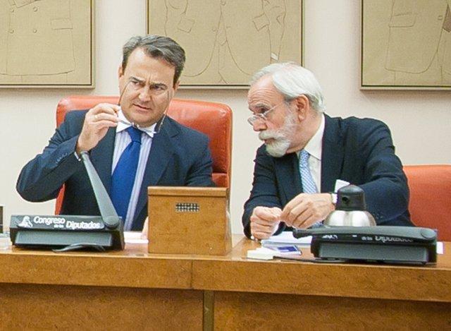 Agustín Conde, en la Comisión de Defensa