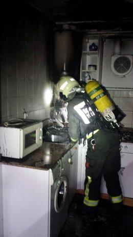 Incendio en la vivienda