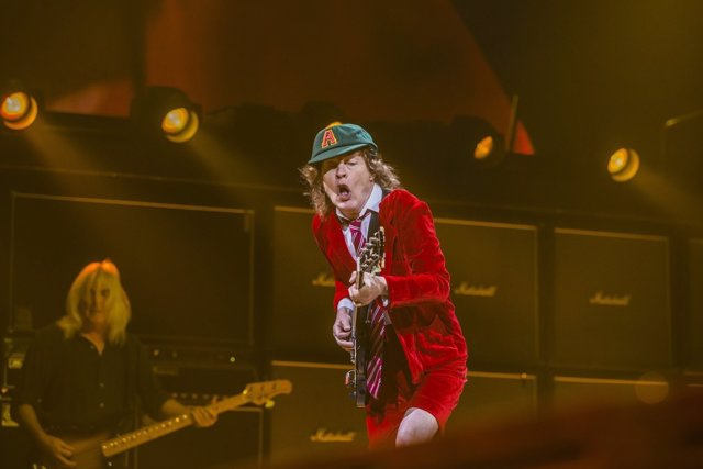 Angus Young of AC DC - Live act performing at Nationwide Arena in Columbus, Ohio