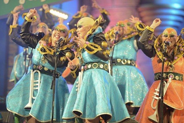 Murga Las Despistadas en el Carnaval de Las Palmas de Gran Canaria