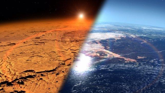 Resultado de imagen de La Tierra, como Marte, perdió la atmósfera