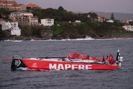 """El 'MAPFRE' desarbola cuando navegaba """"en modo de pruebas"""""""
