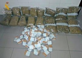Intervenidos 16 kilos de tabaco y 4.000 cigarrillos clandestino en Badajoz