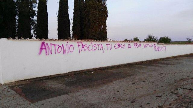 Actos vandálicos Guadiana del Caudillo