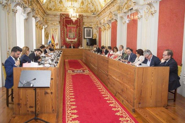 Pleno del Ayuntamiento de Las Palmas de Gran Canaria, mayo 2016