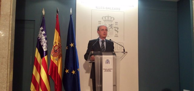 El presidente del TSJIB, Antonio Terrasa