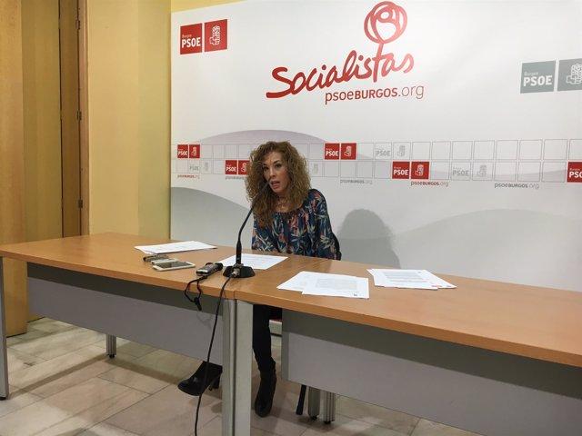 Virginia Jiménez, procuradora del PSOE de Burgos.