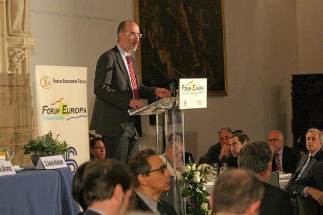 El conselleiro de Sanidade en el 'Fórum Europa. Tribuna Galicia'.