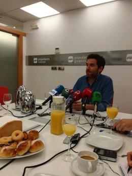 Borja Sémper en un desayuno informativo.