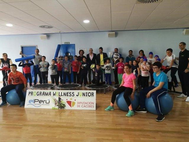 Programa Wellness de la Diputación de Cáceres contra la obesidad infantil