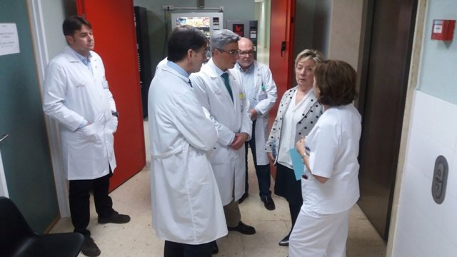 Visita de la directora general de Asistencia Sanitaria del SMS al Rosell