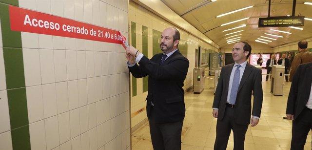 ROLLÁN PRESENTA LA AMPLIACIÓN DE LOS HORARIOS DE LOS VESTIBULOS SECUNDARIOS DE M