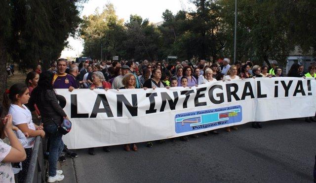Manifestación de la plataforma.