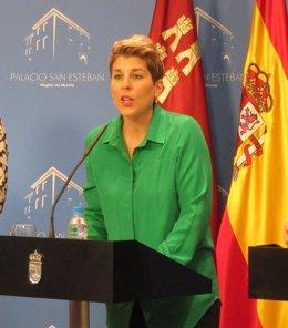 La portavoz del Gobierno murciano, Noelia Arroyo