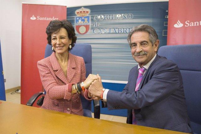 Ana Botín y Miguel Ángel Revilla