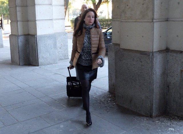 La magistrada Mercedes Alaya llega a los juzgados de Sevilla
