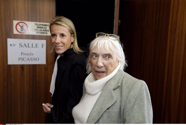 Maya Ruiz-Picasso, daughter of late Spanish artist Pablo Picasso, as she arrives