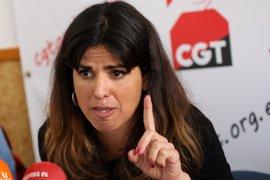 Teresa Rodríguez defiende la necesidad de recuperar servicios públicos para evitar casos de corrupción
