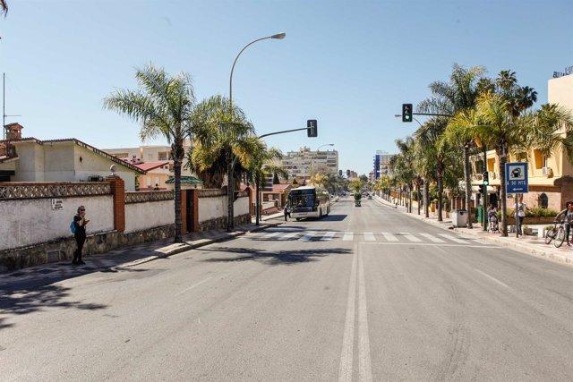 Avenida carlota Alessandri Torremolinos remodelación tráfico obra