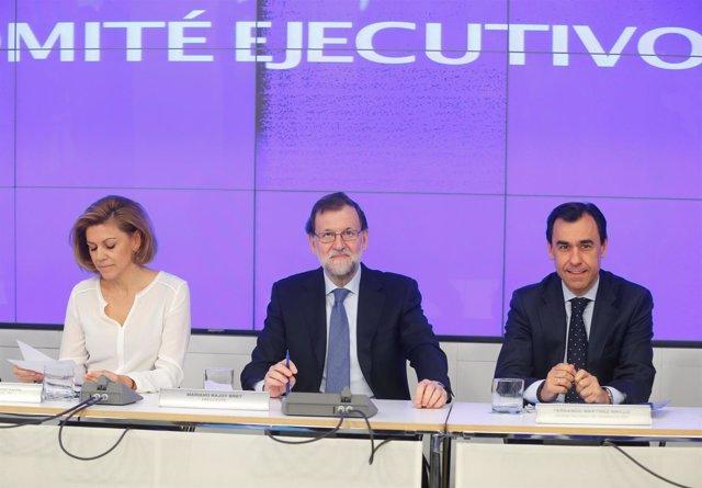 María Dolores de Cospedal, Mariano Rajoy y Fernando Martínez Maillo