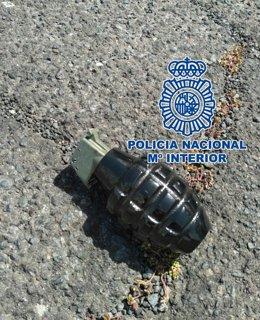 Granada localizada por la Policía Nacional