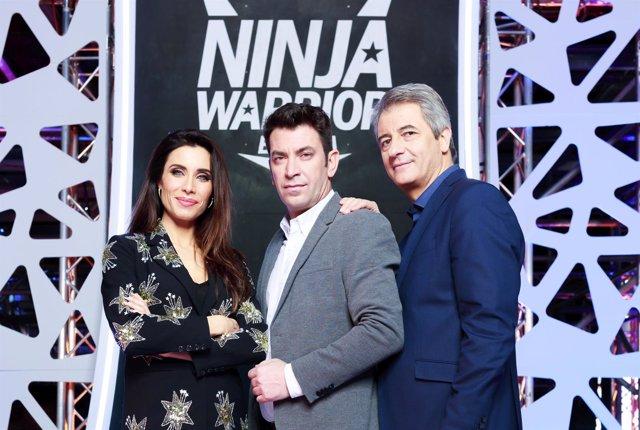 Ninja Warrior, Pilar Rubio, Manolo Lama, Arturo Valls