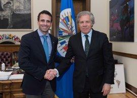"""Almagro se reúne con Capriles para analizar """"los próximos pasos en la OEA"""" sobre Venezuela"""