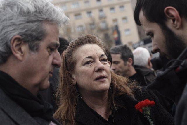Pilar Manjón, en el aniversario del 11-M