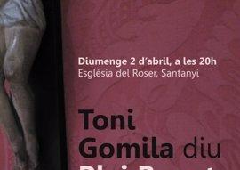 El pregón de Semana Santa de Blai Bonet vuelve a Santanyí 36 años después