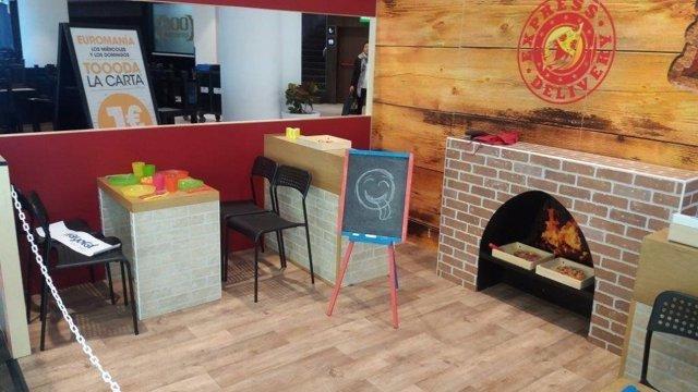 Pizzería de la 'Mini City' del Centro Comercial Bahía Sur.