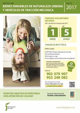 Cartel de campaña de recaudación voluntaria de impuestos de Diputación de Jaén