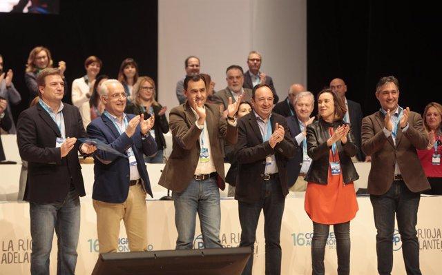 Maíllo, Gamarra, Ceniceros, Sanz en Congreso Regional del PP