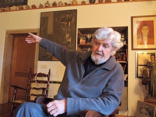 Xosé Manuel Beiras, en A Reboraina, en una entrevista con Europa Press
