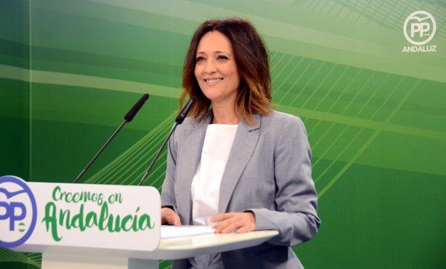 Maribel Lozano (PP-A), en rueda de prensa