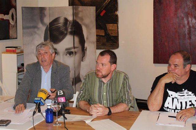 Enric Casanova, David Abril y Aitor Morrás en Ibiza
