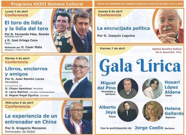 Cartel de la XXXII Semana Cultural de La Pedraja (Valladolid)