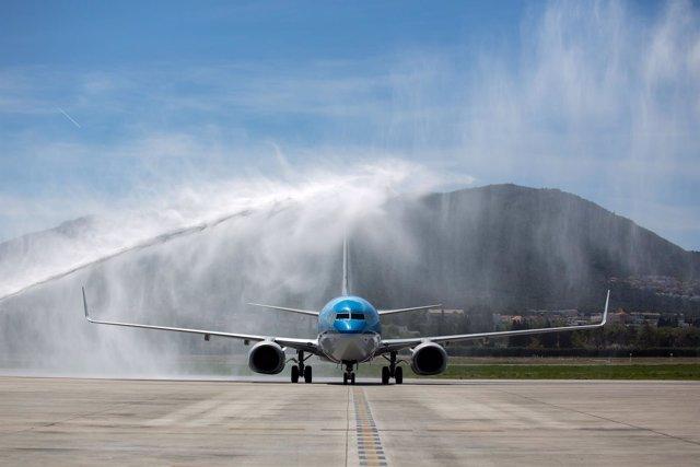 Vuelo KLM en el aeropuerto de Málaga