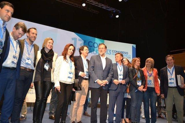 Valladolid. Rajoy con la Ejecutiva del PP tras el Congreso