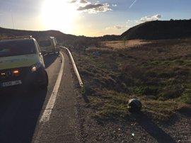 Fallece un motorista en una salida de vía en la M404 a la altura del municipio madrileño de Chinchón