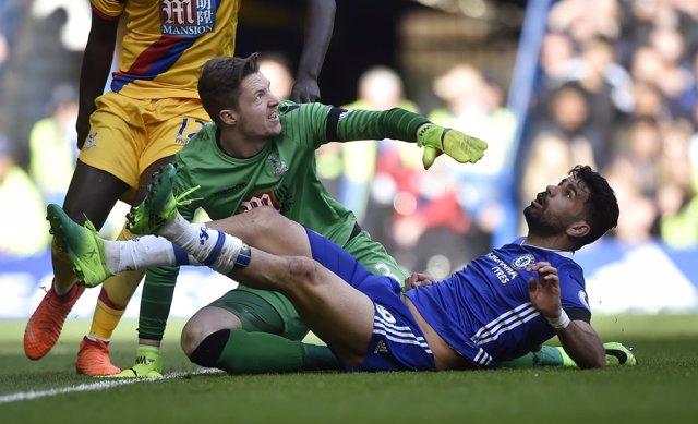 Diego Costa en un Chelsea-Crystal Palace