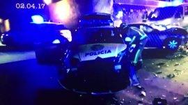 Dos policías heridos en un accidente tras iniciar una persecución contra un conductor ebrio en Palma