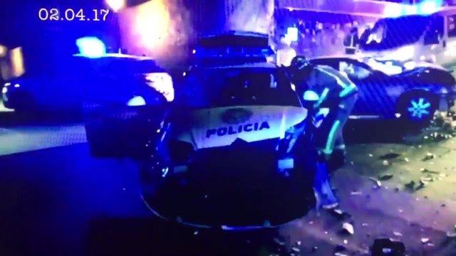 Aparatoso accidente Policía Local Palma tras persecución