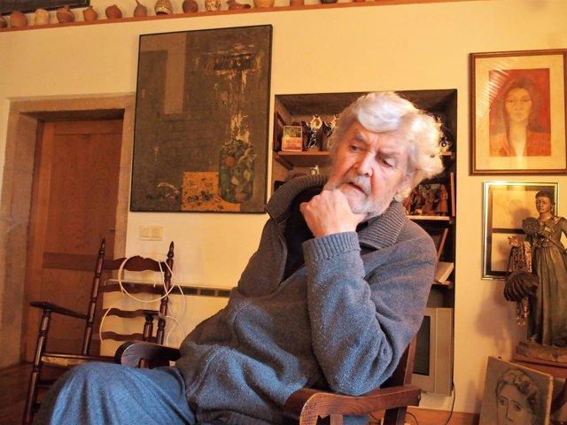 Beiras, en su casa de A Reboraina, en una entrevista con Europa Press