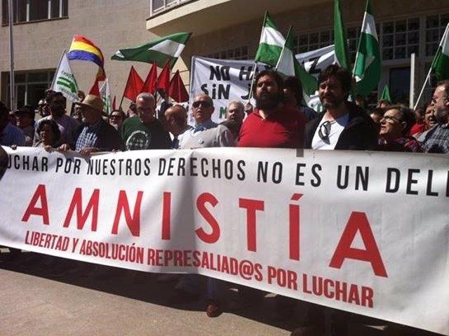 Manifestación por la libertad de Bódalo