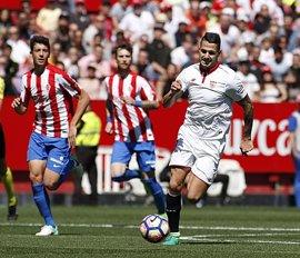El Sevilla extiende su crisis ante el Sporting y el Valencia golea al Deportivo