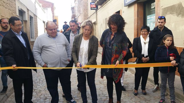 La consellera Neus Munté inaugura la Fira de L'Albi (Lleida)