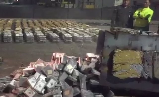 Cocaína incautada en Barranquilla