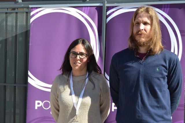 Valladolid. Laura Domínguez y Pablo Fernández, de Podemos CyL